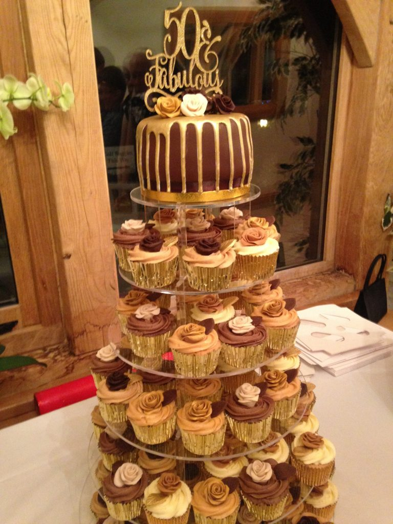 Fabulous 50th Cupcake Tower Beautiful Birthday Cakes